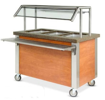 Dinex DXDHF2 240 35-in Hot Food Counter w/ 2-Wells, Thermostatic Controls, Open Base, 240 V