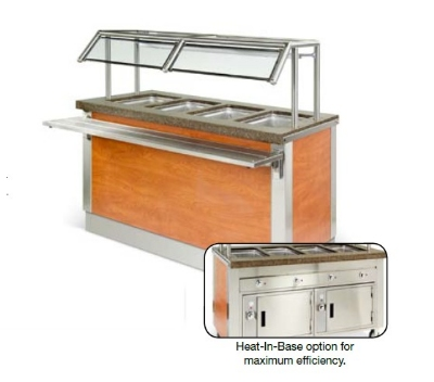Dinex DXDHF3HIB 49-in Hot Food Counter w/ 3-Wells, Thermostatic, Heated Base, 208 V
