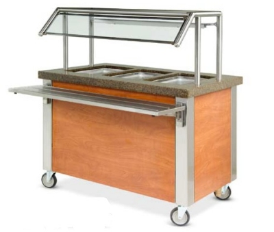 Dinex DXDHF3 208 49-in Hot Food Counter w/ 3-Wells, Thermostatic Controls, Open Base, 208 V