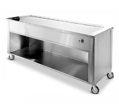 Dinex DXDHT2 35-in Hot Top Counter w/ 2-Well, Open Cabinet, Stainless, 120 V