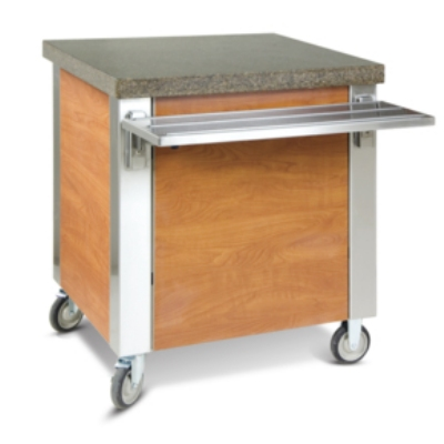 Dinex DXDST2 35-in Solid Top Counter w/ 16-ga Stainless Top, 18-ga Sides & Ends