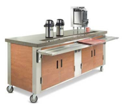 Dinex DXDUS2 35-in Beverage Counter w/ Urn Trough, Stainless