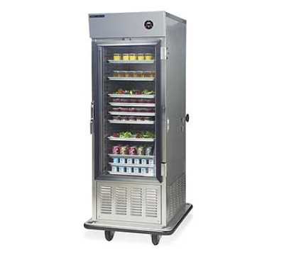 """Dinex DXIRAC15 31.5"""" Single Section Air Curtain Reach-In Refrigerator, (2) Glass Door, 120v"""