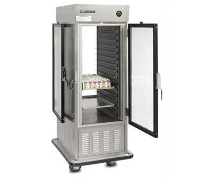 "Dinex DXIRAC15PT 31.5"" Single Section Pass-Thru Air Curtain Reach-In Refrigerator, (2)"