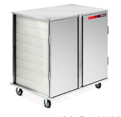 Dinex DXPSCPT322D 2-Door Enclosed Pass Thru Tray Delivery Cart w/ 32 Tray Capacity