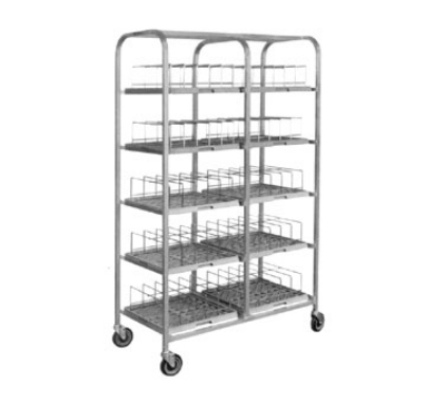 Dinex DXIRDSD780 Dome Storage Cart w/ Wash Racks For 7-in Covers, 80 Capacity