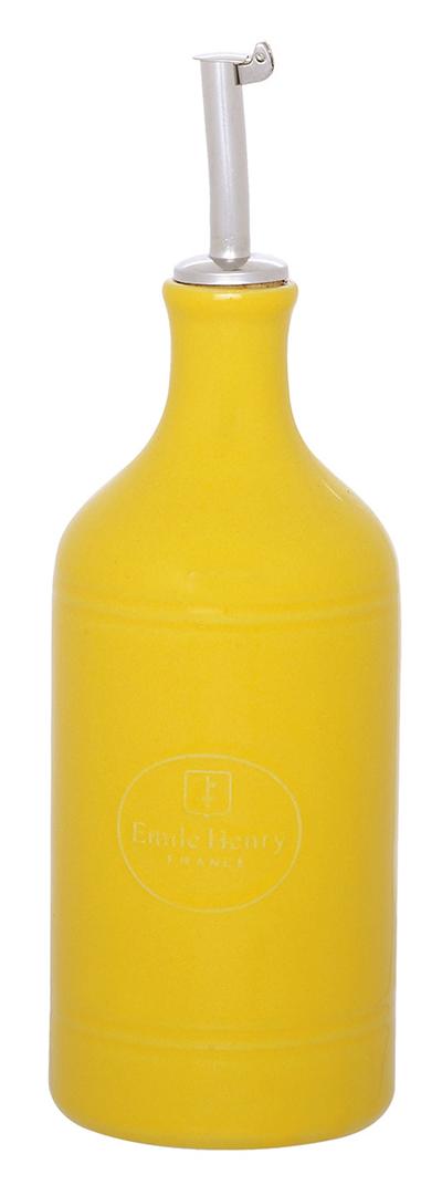 Emile Henry 030215 14 oz Ceramic Oil Cruet, Citron Yellow