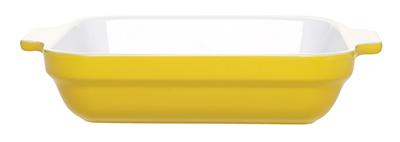 Emile Henry 032006 EA Ceramic Square Baking Dish, 9 x 9-in, Two-Tone, Citron Yellow