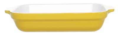 Emile Henry 039630 2-1/2 qt Ceramic Lasagna Dish, 12 x 8-1/2in, Two-Tone, Citron Yellow