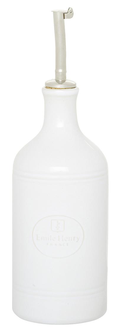 Emile Henry 050215 14 oz Ceramic Oil Cruet, Blanc White