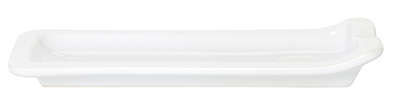 Emile Henry 050261 EA Ceramic Spoon Rest, 8.75 x 4-in, Blanc White