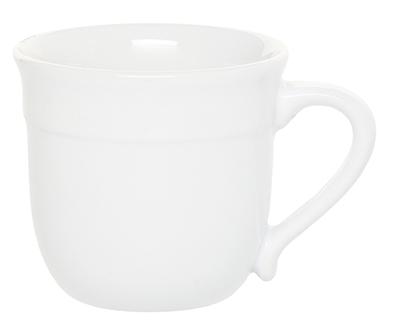 Emile Henry 058714 14 oz Ceramic Mug, Blanc White