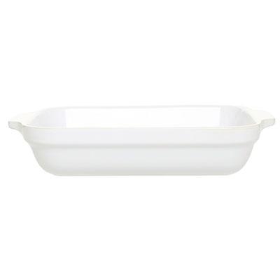Emile Henry 059630 2-1/2 qt Ceramic Lasagna Dish, 12 x 8-1/2 in, Blanc W
