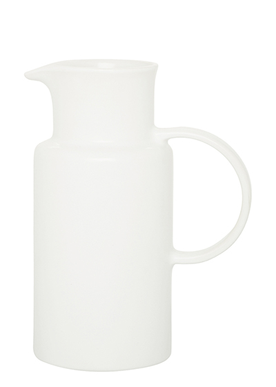 Emile Henry 111510 1 liter Ceramic Pitcher, Nougat White, 2-Pack