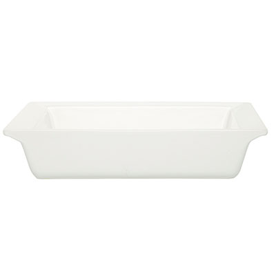 Emile Henry 112004 2-1/5 qt Ceramic Square Dish, 10 in Diameter, Nougat White