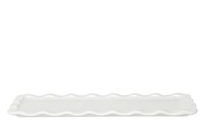 Emile Henry 116103 1 qt Ceramic Rectangular Platter, 14 x 8 in, Nougat White