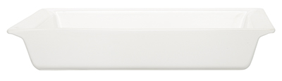Emile Henry 119602 3-1/2 qt Ceramic Rectangular Dish, 15 x 13 in, Nougat White