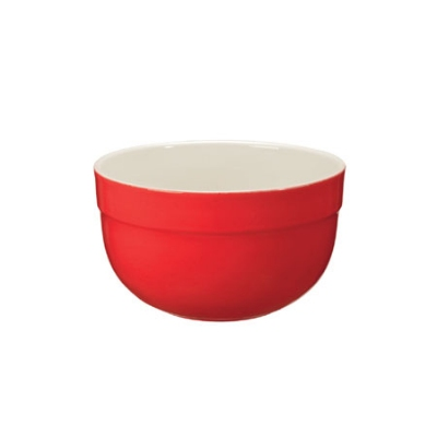 Emile Henry 336522 EA 6.8-in Ceramic Small Mixing Bowl, Two-Tone, Cerise Red