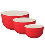 Emile Henry 336529/3 Ceramic Mixing Bowl Set, In