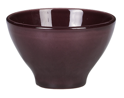 Emile Henry 372110 7 oz Ceramic Japanese Cup, 4 in Diameter, Figue Purple