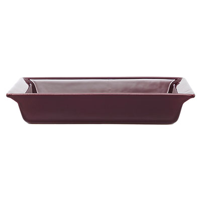 Emile Henry 379604 EA Ceramic Small Rectangular Dish, 11 x 8-in, Figue Purple