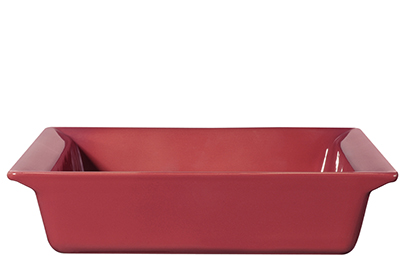 Emile Henry 422002EA 9-in Urban Colors Ceramic Baking Dish, Square, Raspberry