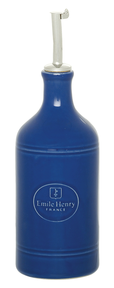 Emile Henry 530215 14 oz Ceramic Oil Cruet, Azure Blue