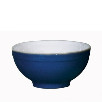 Emile Henry 532121 EA Ceramic Cereal Bowl, 5.5-in Round, Two-Tone, Azure Blue