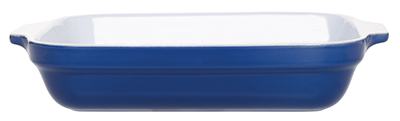 Emile Henry 539630 2-1/2 qt Ceramic Lasagna Dish, 12 x 8-1/2in, Two-Tone, Azure Blue