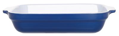 Emile Henry 539630 2-1/2 qt Ceramic Lasagna Dish, 12 x 8-1/2in, Two-Tone, Azure Blue