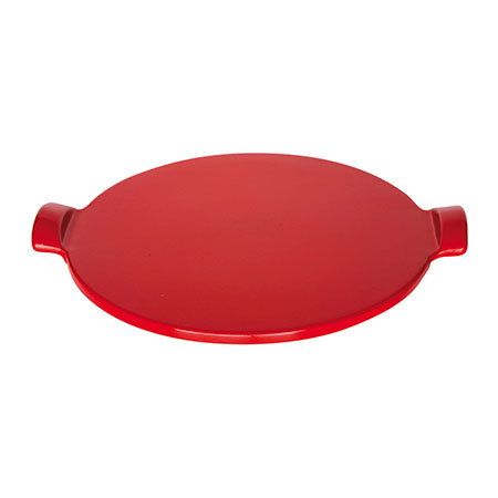 Emile Henry 617514 Flame 14.5-in Pizza Stone, Red