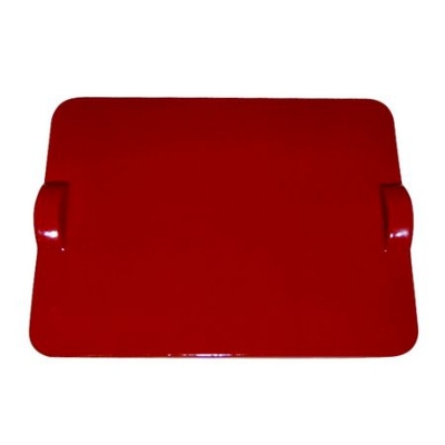 Emile Henry 617518 Flame Top Rectangular Baking Stone, Red