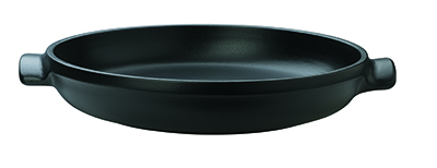 Emile Henry 713599 Ceramic Flame Top Tart Tatin Set, Black