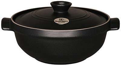 Emile Henry 714573 9-in Risotto Pot w/ 2.5-Quart Capaci