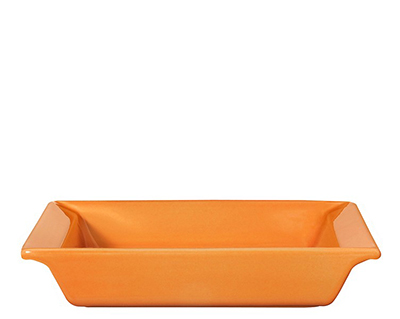 Emile Henry 862002EA 9-in Urban Colors Ceramic Baking Dish, Square, Tangerine
