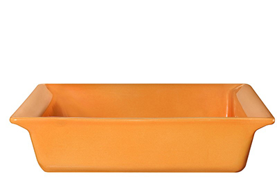 Emile Henry 862004 10-in Urban Colors Square Baking Dish, Ceramic, Tangerine