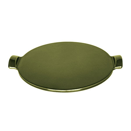 Emile Henry 877514 Flame 14.5 in Pizza Stone, Olive