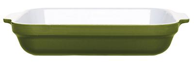 Emile Henry 87 96 32 3.8-qt Ceramic Lasagna Dish, 13 x 10-in, Olive Green