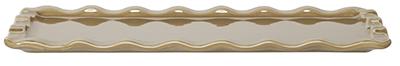 Emile Henry 966103 1 qt Ceramic Rectangular Platter, 14 x 8 in, Sand