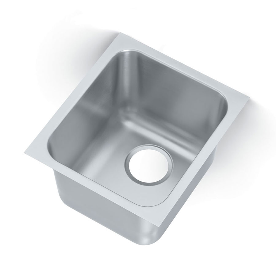 Vollrath 121011 1-Compartment Institutional Drop-In Sink w/ Square Corners
