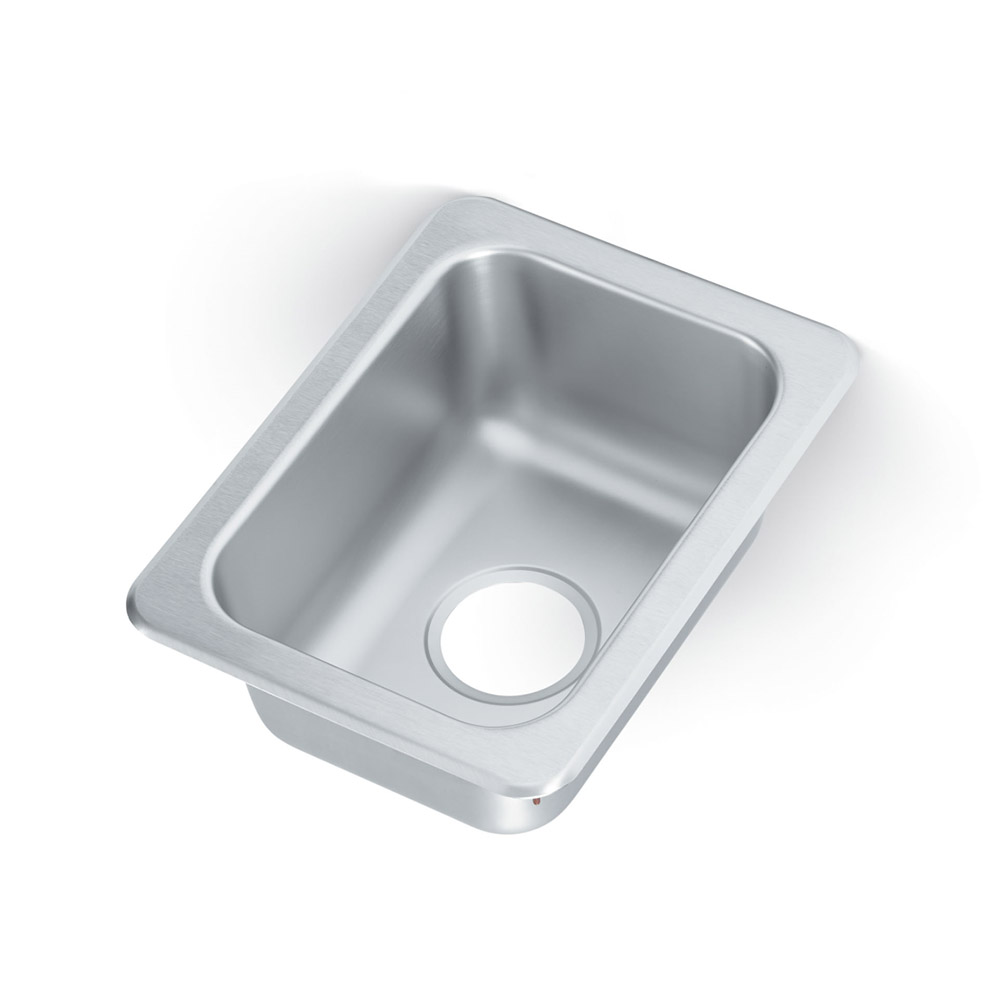 "Vollrath 131-8 1-Compartment Drop-In Sink, Standard Gauge Stainless, 2"" Drain"