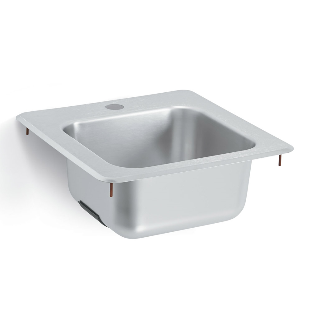 Vollrath 1551 Bar or Waitress Drop-In Hand Sink w/ 1-Hole for Faucet