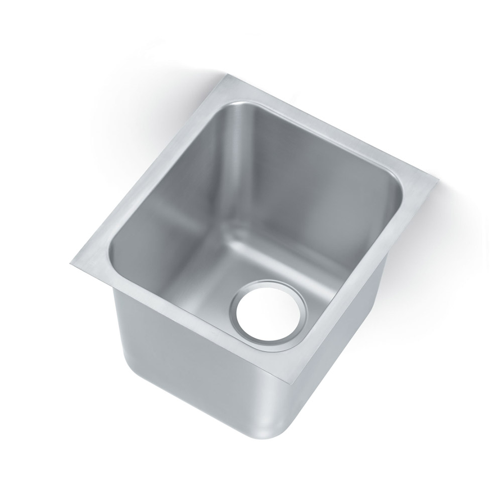 Vollrath 16141-1 Yukon Institutional Drop-In Sink, 1 Compartment, Square Corners