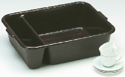 "Vollrath 1721-31 Divided Bus Pan - 18x23x6"", Gray"