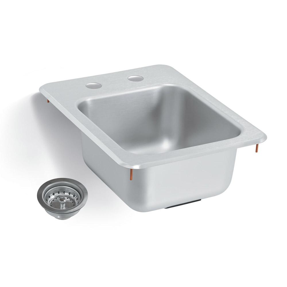 """Vollrath 1734-C Yukon Bar/Waitress Drop-In Sink, Strainer, 13""""x17"""""""