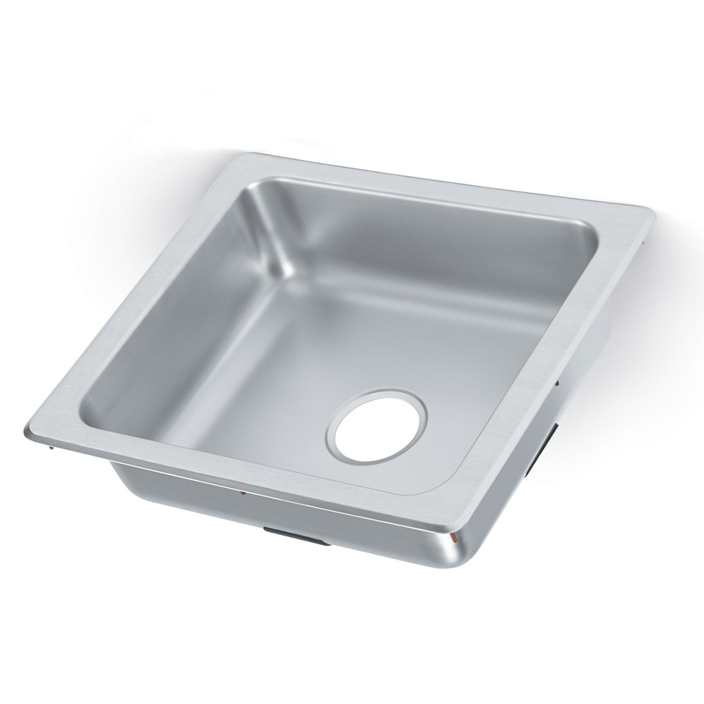 """Vollrath 229-1 1-Compartment Stainless Drop-In Sink, 3.5"""" Drain"""