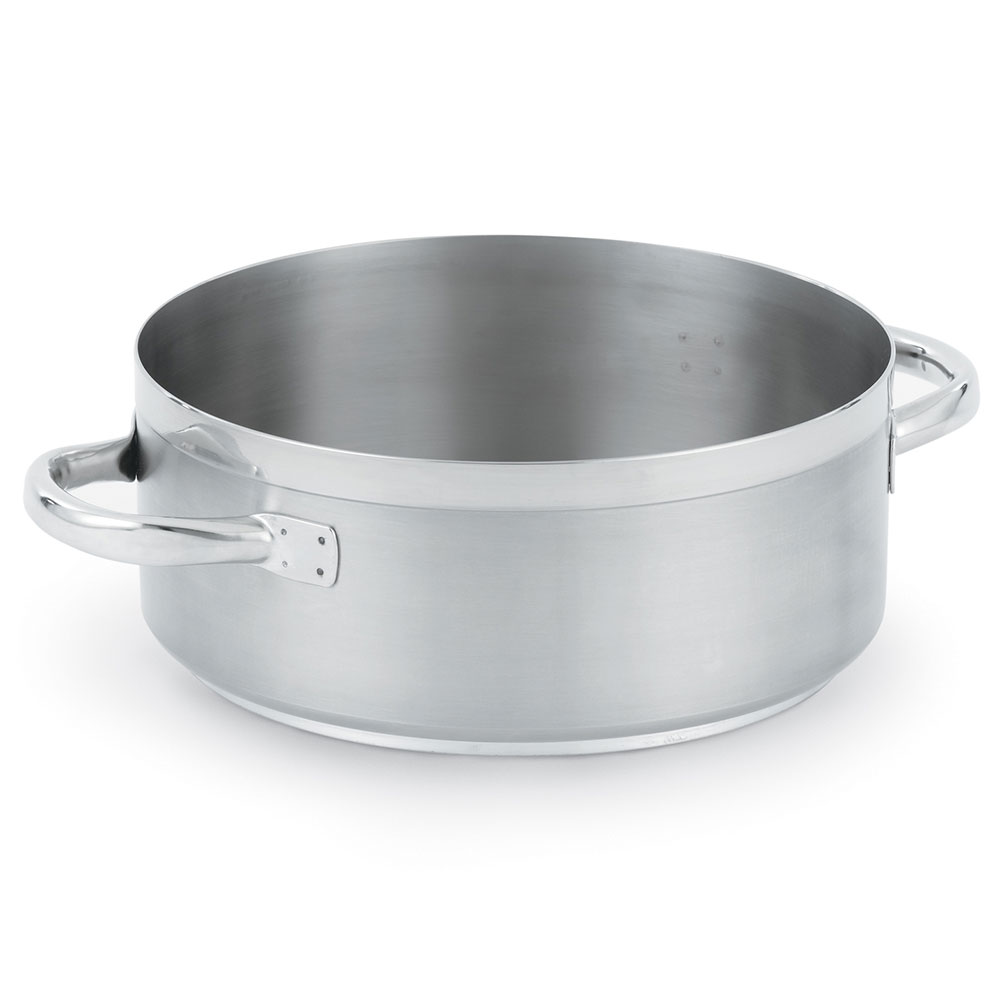 Vollrath 3307 Centurion Induction Casserole/Brazier Pan Stainless 7 qt Restaurant Supply