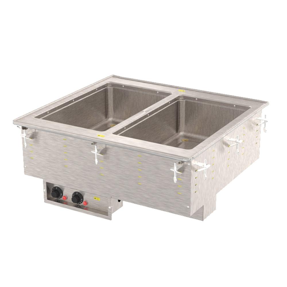 Vollrath 3639951 2 Well Modular Hot Drop-In Infinite Manifold Drain 1000 W 120 V Restaurant Supply