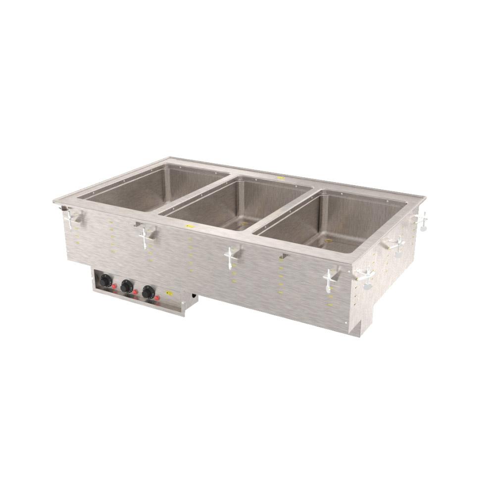 Vollrath 36405 3 Well Modular Hot Drop-In Infinite standard Drain 625 W 208 V Restaurant Supply