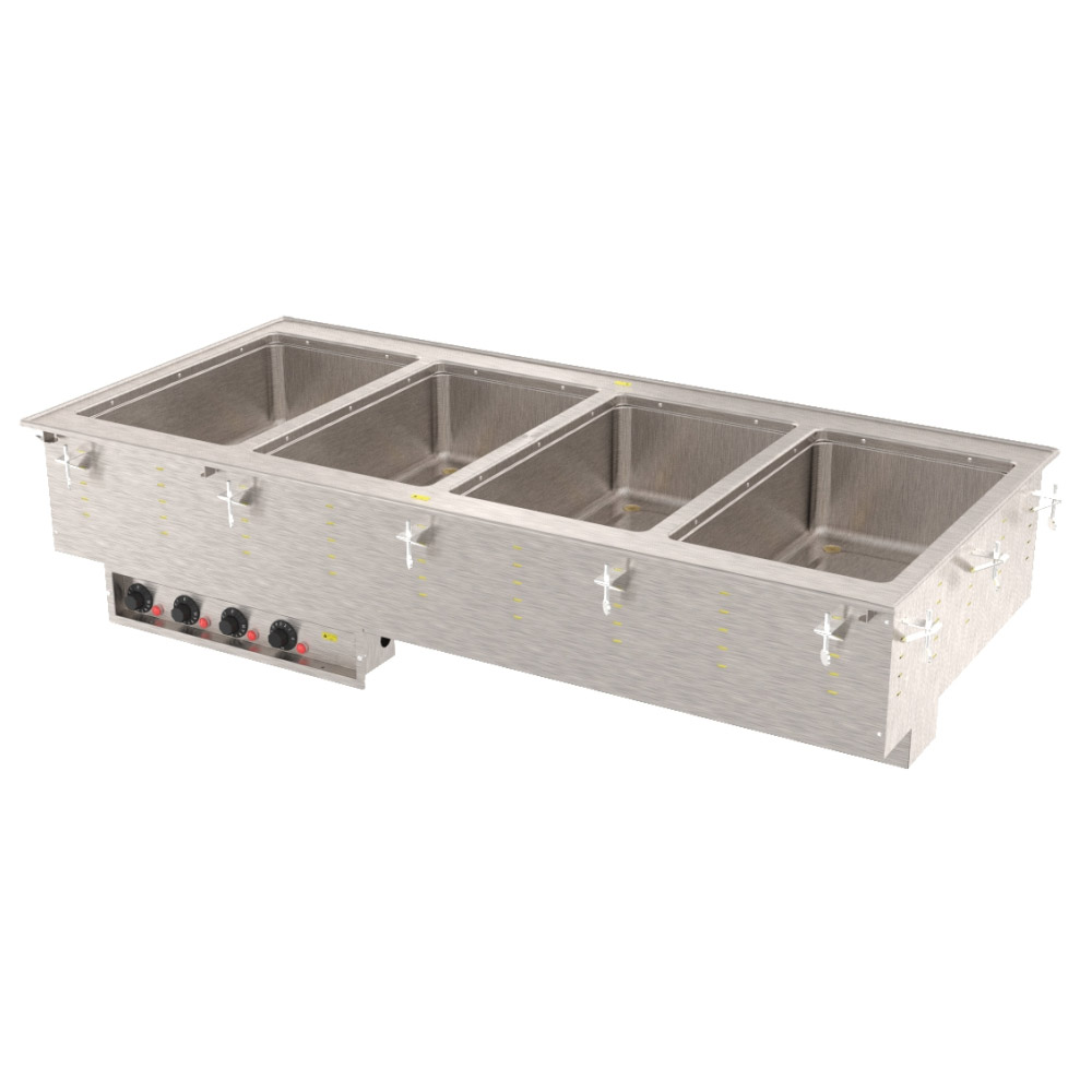 Vollrath 3640610 4 Well Modular Drop-In Thermostatic Standard Drain 625 W per Well 120 V Restaurant Supply